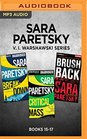 Sara Paretsky V I Warshawski Series Books 15-17 Breakdown Critical Mass Brush Back