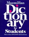 Macmillan Dictionary for Students