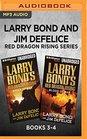 Larry Bond and Jim DeFelice Red Dragon Rising Series Books 3-4 Shock of War  Blood of War