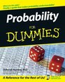 Probability For Dummies (For Dummies (Math & Science))