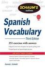 Schaum's Outline of Spanish Vocabulary, 3ed (Schaum's Outline Series)