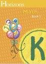 Horizons Mathematics K Teacher Handbook