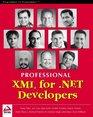 Professional XML for NET Developers