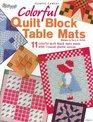 Plastic Canvas Colorful Quilt Block Table Mats