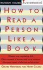 How to Read a Person Like a Book (Audio Cassette) (Unabridged)