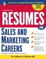 Resumes for Sales and Marketing Careers, Third edition (Professional Resumes Series)