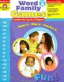 Word Family Games Centers for Up to 6 Players Level A Grades K-2