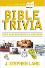 The Complete Book of Bible Trivia (Complete Book Of...)