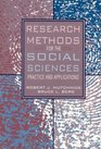 Research Methods for the Social Sciences Practice and Applications