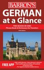 German at a Glance Foreign Language Phrasebook  Dictionary