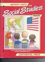 Activity Units for Social Studies (Primary)