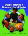 Effective Teaching in Elementary Social Studies Fifth Edition