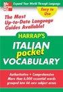 Harrap's Pocket Italian Vocabulary