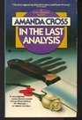 In the Last Analysis (Kate Fansler, Bk 1)