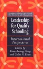 Leadership for Quality Schooling