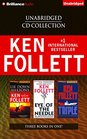 Ken Follett Unabridged CD Collection Lie Down with Lions Eye of the Needle Triple