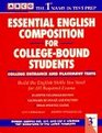 Arco Essential English Composition for College-Bound Students College Entrance and Placement Tests
