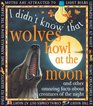 Wolves Howl At The Moon  And other amazing facts about creatures of the night