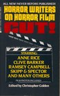 Cut!: Horror Writers on Horror Film