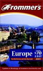 Frommer's 2001 Europe From 70 a Day