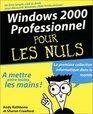 Windows 2000 Professionnel pour les nuls