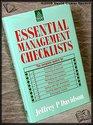 Essential Management Checklists