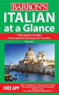Italian at a Glance Foreign Language Phrasebook  Dictionary