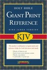 Holy Bible King James Version Black Bonded Leather Giant Print Reference Bible