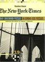 New York Times Sunday Crossword Puzzles Volume 19