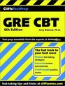 Cliff Notes Test Prep Gre Cbt