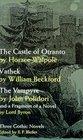 Three Gothic Novels: The Castle of Otranto, Vathek, The Vampyre