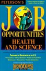 Peterson's Job Opportunities Health and Science