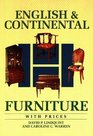 English and Continental Furniture With Prices (Wallace-Homestead Furniture Series)