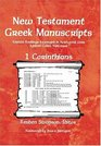New Testament Greek Manuscripts  1 Corinthians