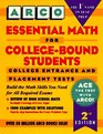 Arco Essential Math for College-Bound Students