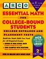Arco Essential Math for CollegeBound Students