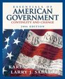Essentials of American Government  Continuity and Change 2006 Edition