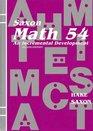 Math 54 An Incremental Development Student Book