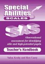 Special Abilities Scales Teacher's Handbook Observational Assessment for Identifying Able and High-potential Pupils