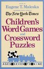 Children's Word Games and Crossword Puzzles Volume 1 For Ages 7-9