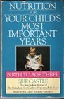 Nutrition for your child's most important years Birth to age three