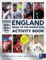 England Road to the World Cup Activity Book Football Quizzes Puzzles Games and More