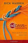 40 Days of Community Devotional What on Earth Are We Here For