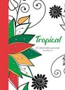 Tropical 20 detachable postcards to color in