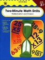 Two-Minute Math Drills Grades 3 - 5 Multiplication  Division