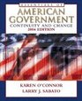 The Essentials of American Government Continuity and Change 2004