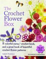The Crochet Flower Box 8 Colourful Yarns Crochet Hook and a Great Book of Beautiful Crochet Flower Patterns