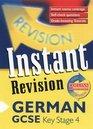 GCSE German Instant Revision Cards