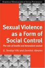 Sexual Violence as Form Social Cont The Role of Hostile and Benevolent Sexism