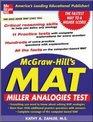 McGraw-HIll's MAT: Miller Analogies Test (McGraw-Hill's Mat)